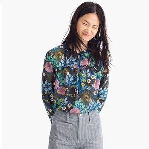 JCREW x Abigail Borg peasant blouse